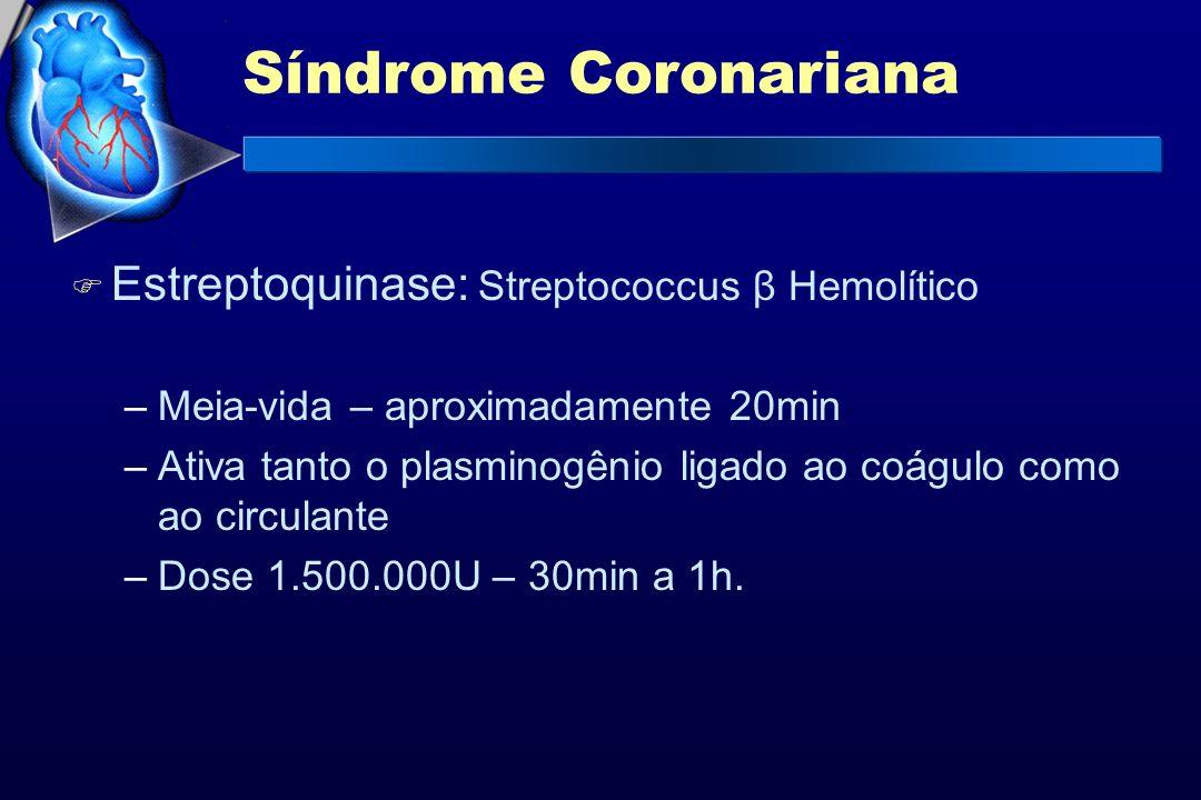 Síndrome Coronariana Estreptoquinase: Streptococcus β Hemolítico