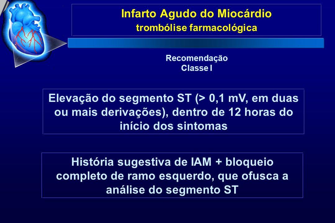 Infarto Agudo do Miocárdio trombólise farmacológica
