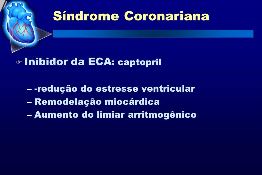 Síndrome Coronariana Inibidor da ECA: captopril