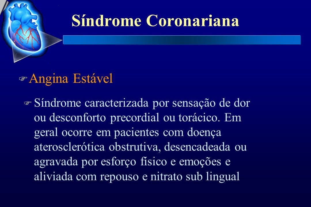 Síndrome Coronariana Angina Estável