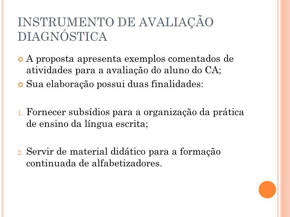 INSTRUMENTO DE AVALIAÇÃO DIAGNÓSTICA