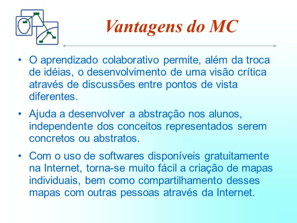 Vantagens do MC