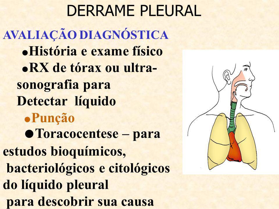 DERRAME PLEURAL Detectar líquido
