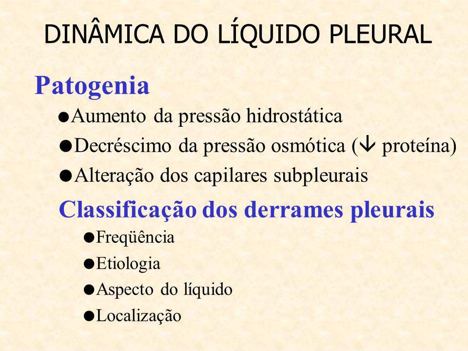 DINÂMICA DO LÍQUIDO PLEURAL