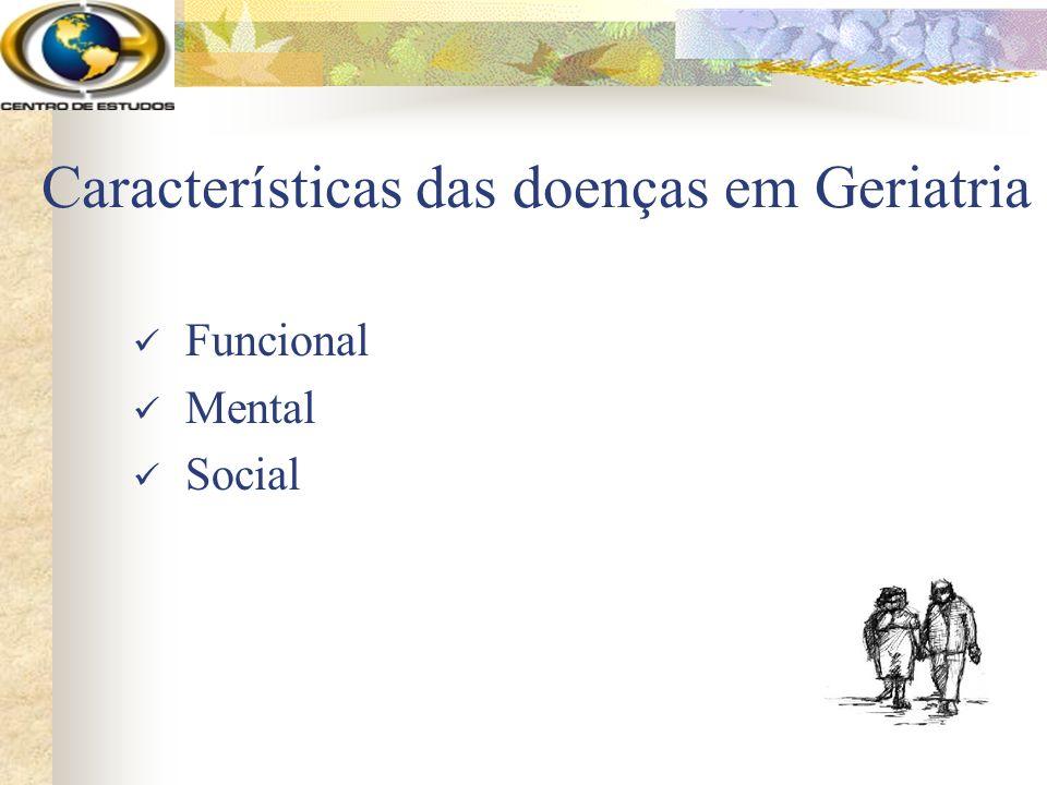 Características das doenças em Geriatria