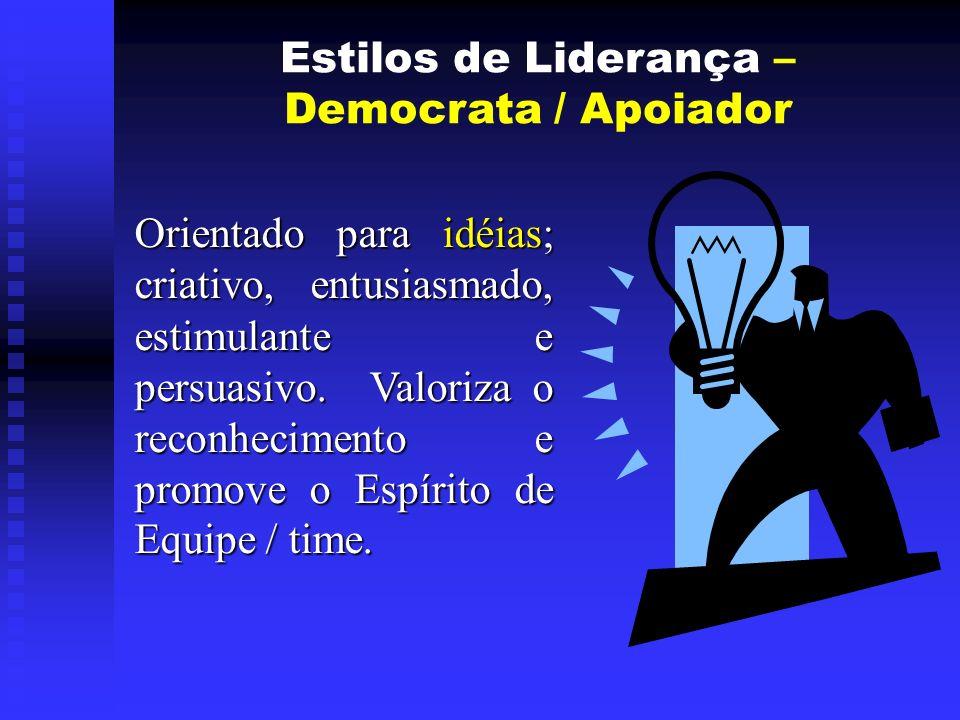 Estilos de Liderança – Democrata / Apoiador.