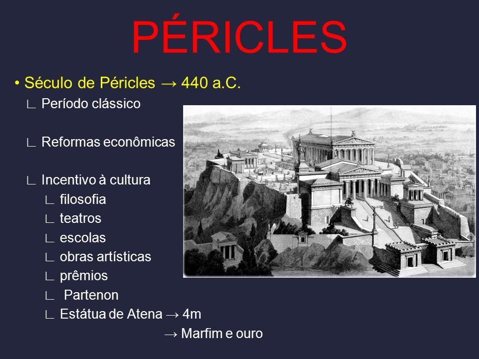 PÉRICLES • Século de Péricles → 440 a.C. ∟ Período clássico