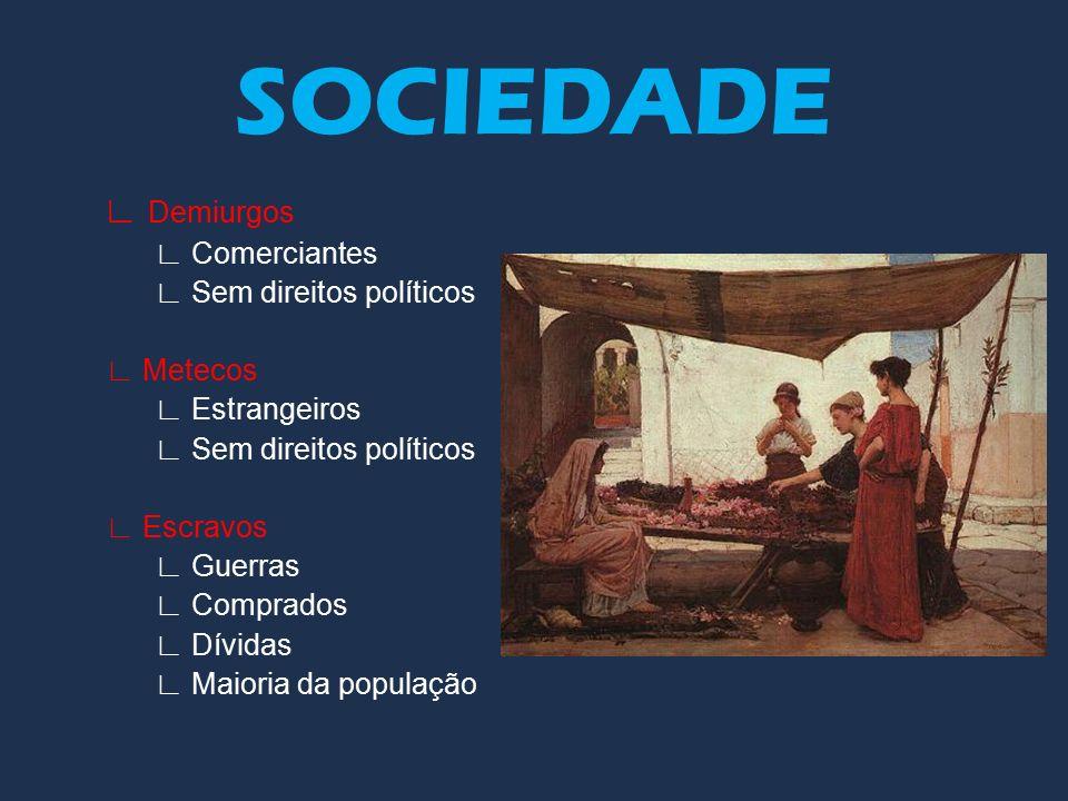 SOCIEDADE ∟ Demiurgos ∟ Comerciantes ∟ Sem direitos políticos