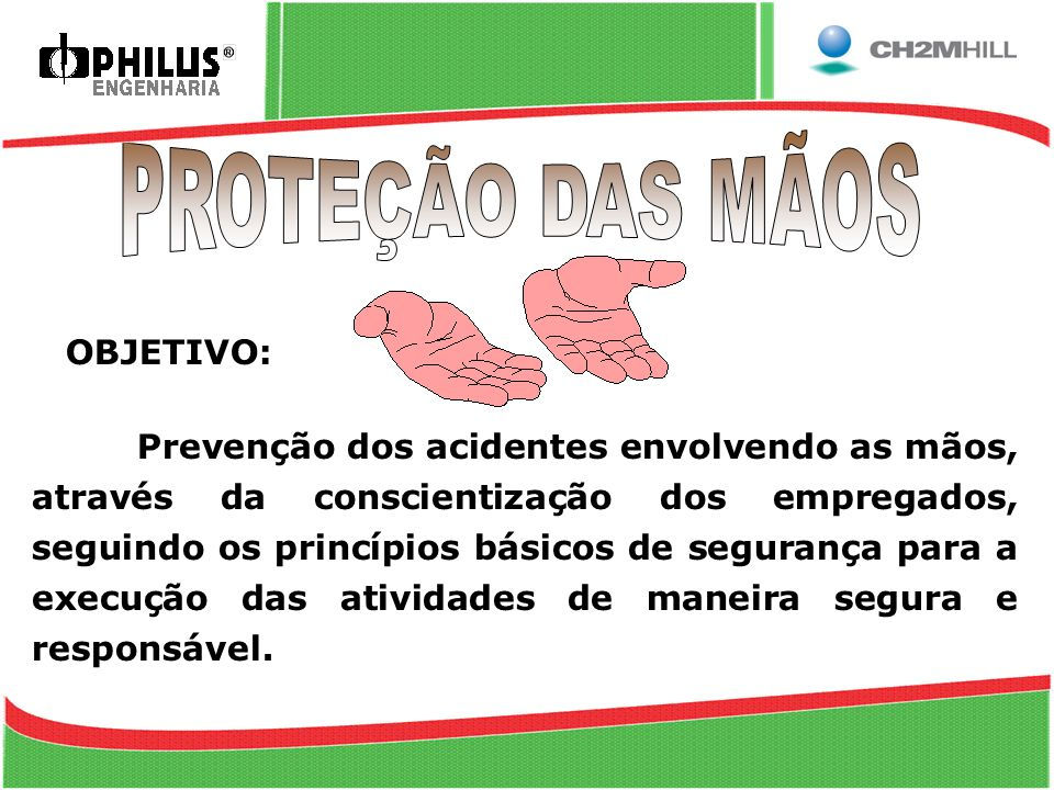 PROTEÇÃO DAS MÃOS OBJETIVO:
