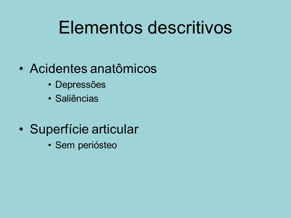 Elementos descritivos