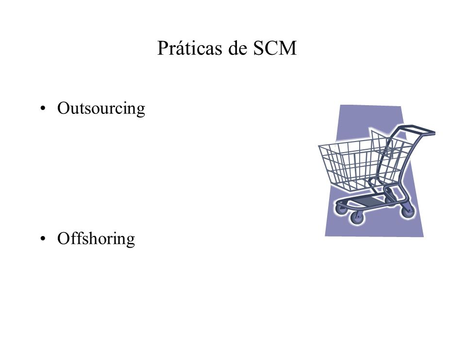 Práticas de SCM Outsourcing Offshoring