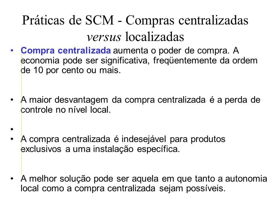 Práticas de SCM - Compras centralizadas versus localizadas