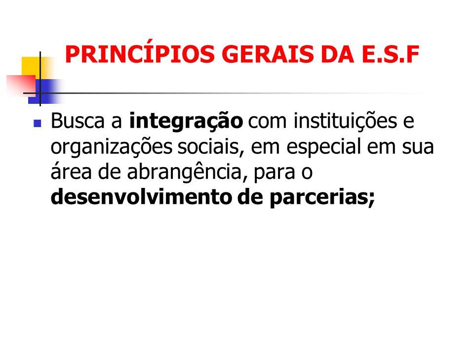 PRINCÍPIOS GERAIS DA E.S.F