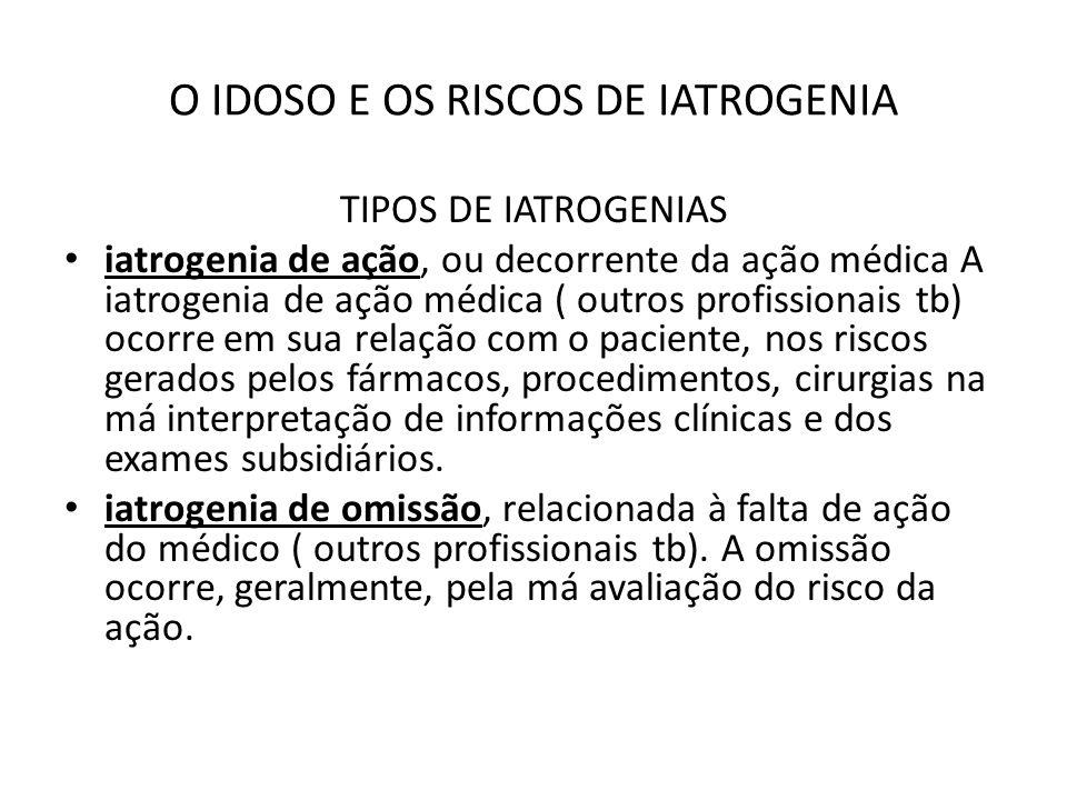 O IDOSO E OS RISCOS DE IATROGENIA