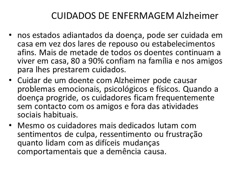 CUIDADOS DE ENFERMAGEM Alzheimer