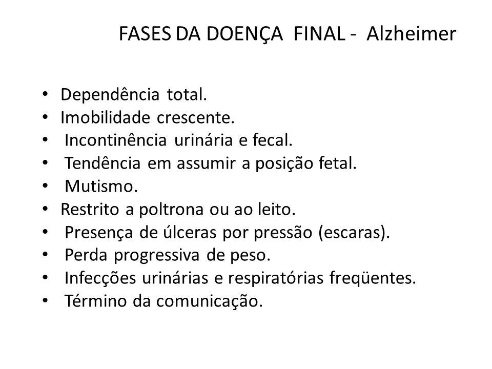 FASES DA DOENÇA FINAL - Alzheimer