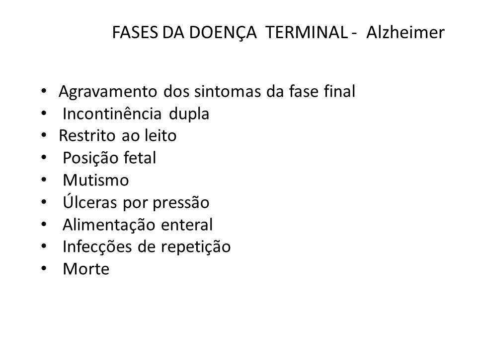 FASES DA DOENÇA TERMINAL - Alzheimer
