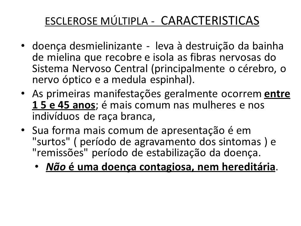 ESCLEROSE MÚLTIPLA - CARACTERISTICAS