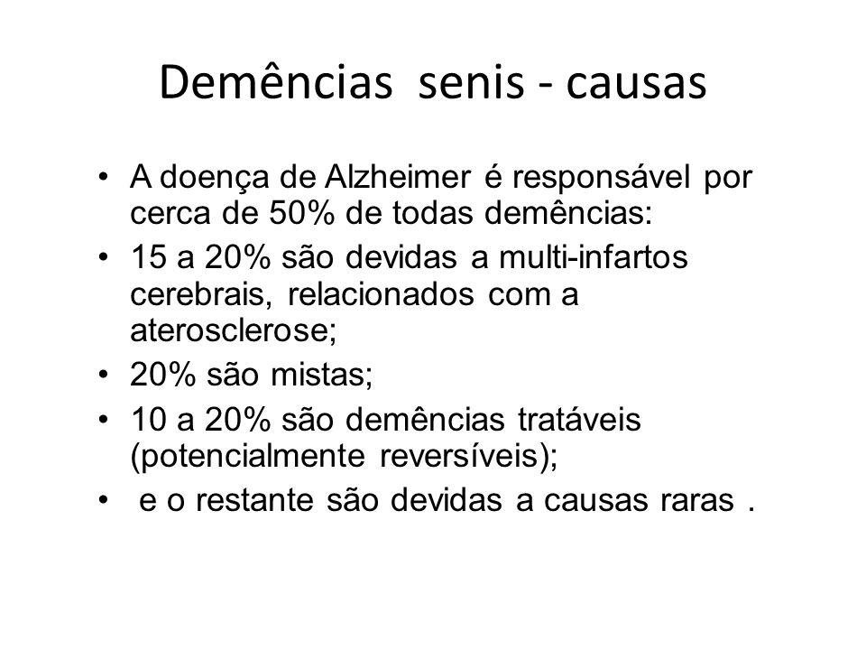 Demências senis - causas