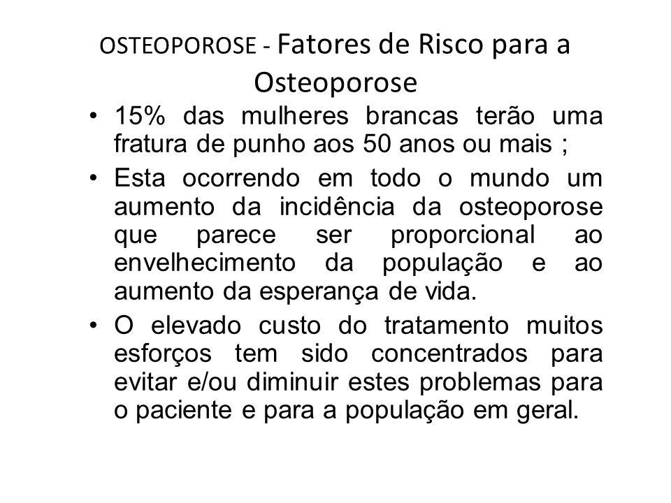 OSTEOPOROSE - Fatores de Risco para a Osteoporose