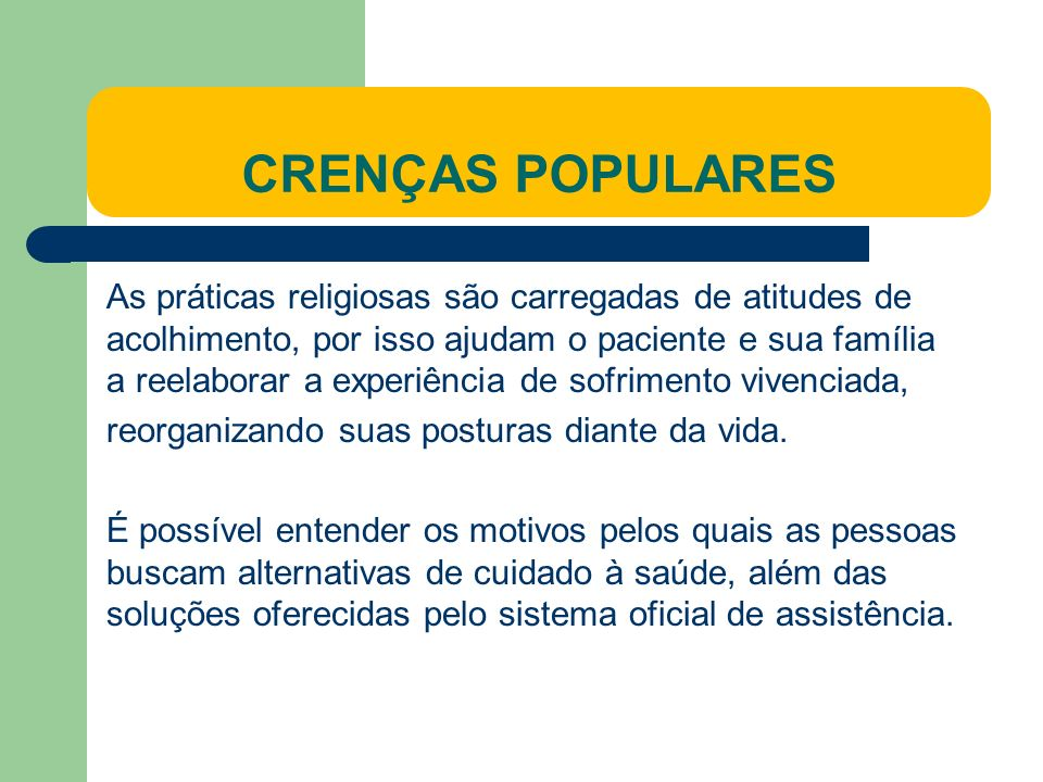 CRENÇAS POPULARES