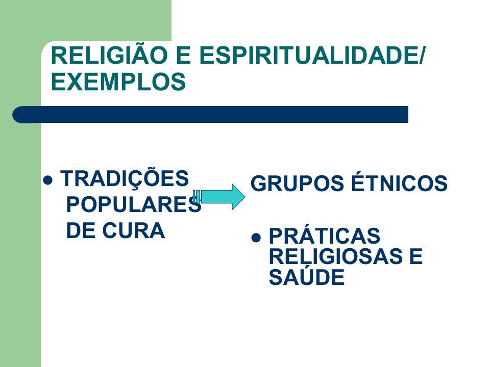 RELIGIÃO E ESPIRITUALIDADE/ EXEMPLOS