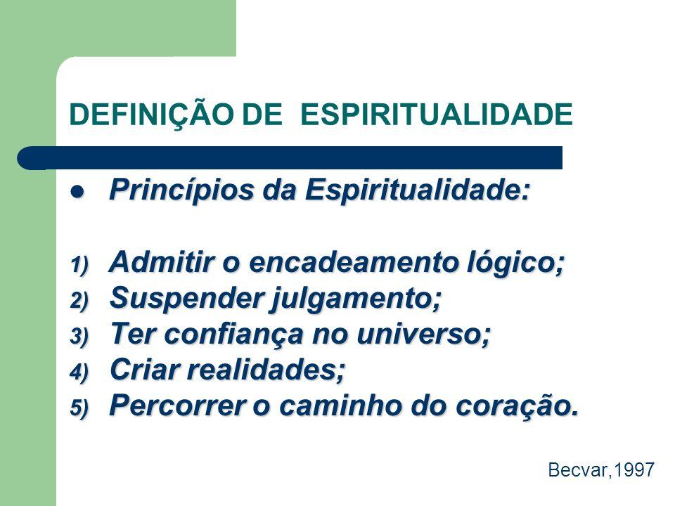 DEFINIÇÃO DE ESPIRITUALIDADE