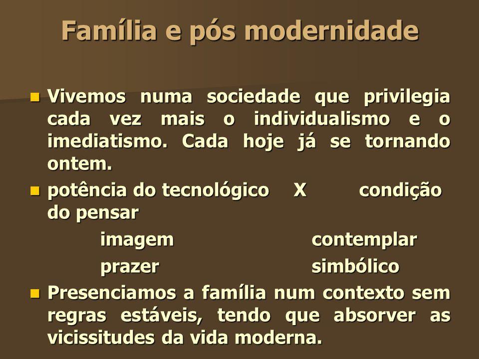 Família e pós modernidade