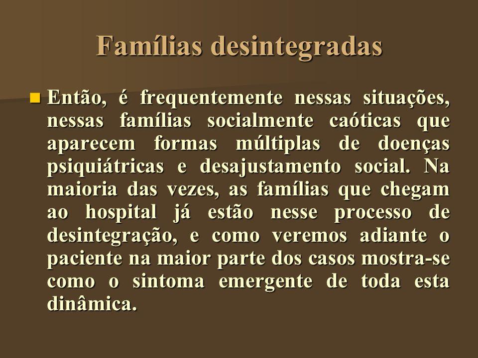 Famílias desintegradas