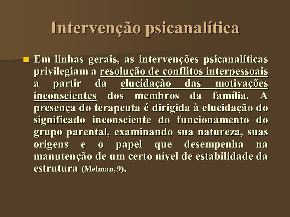Intervenção psicanalítica