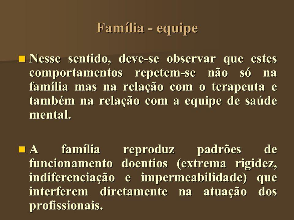 Família - equipe