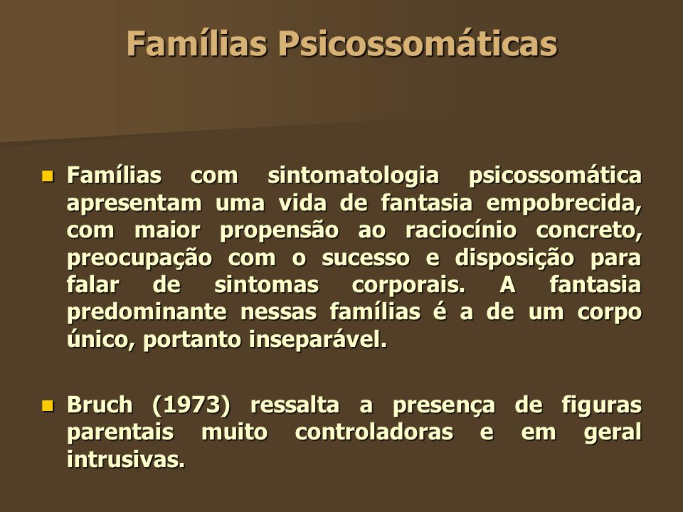 Famílias Psicossomáticas