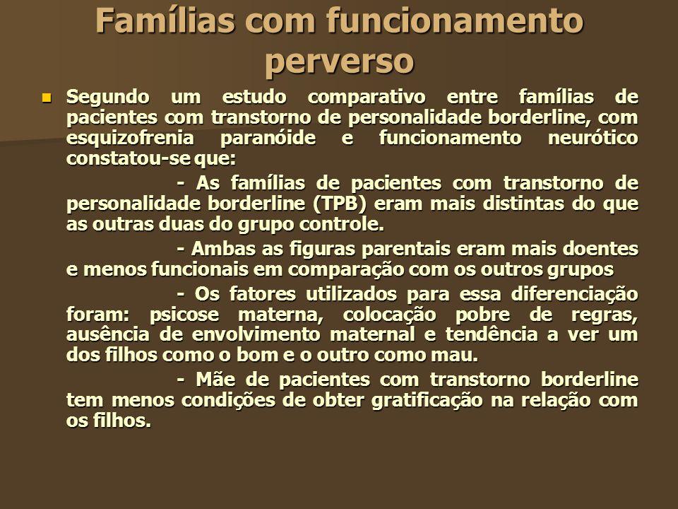 Famílias com funcionamento perverso