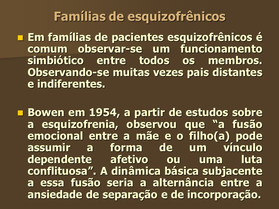 Famílias de esquizofrênicos