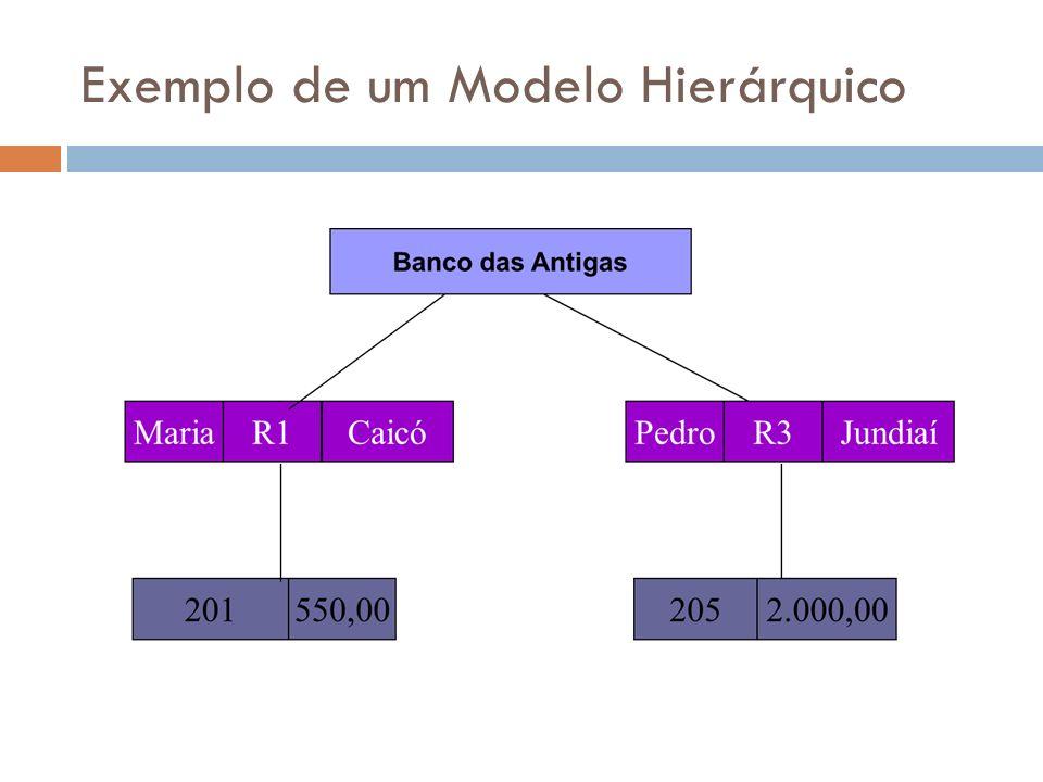 Exemplo de um Modelo Hierárquico