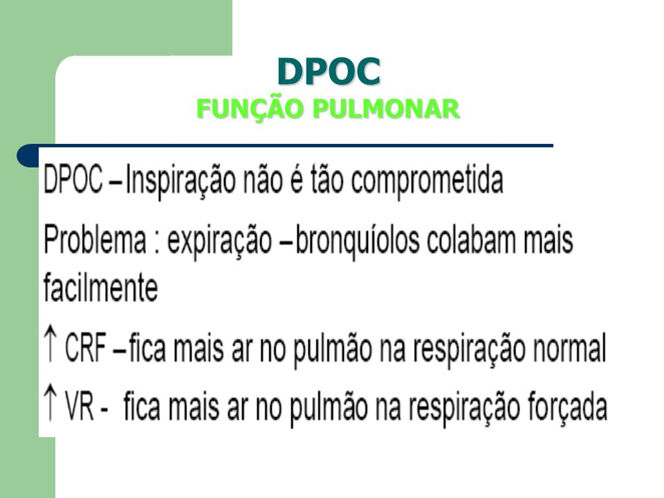 DPOC FUNÇÃO PULMONAR
