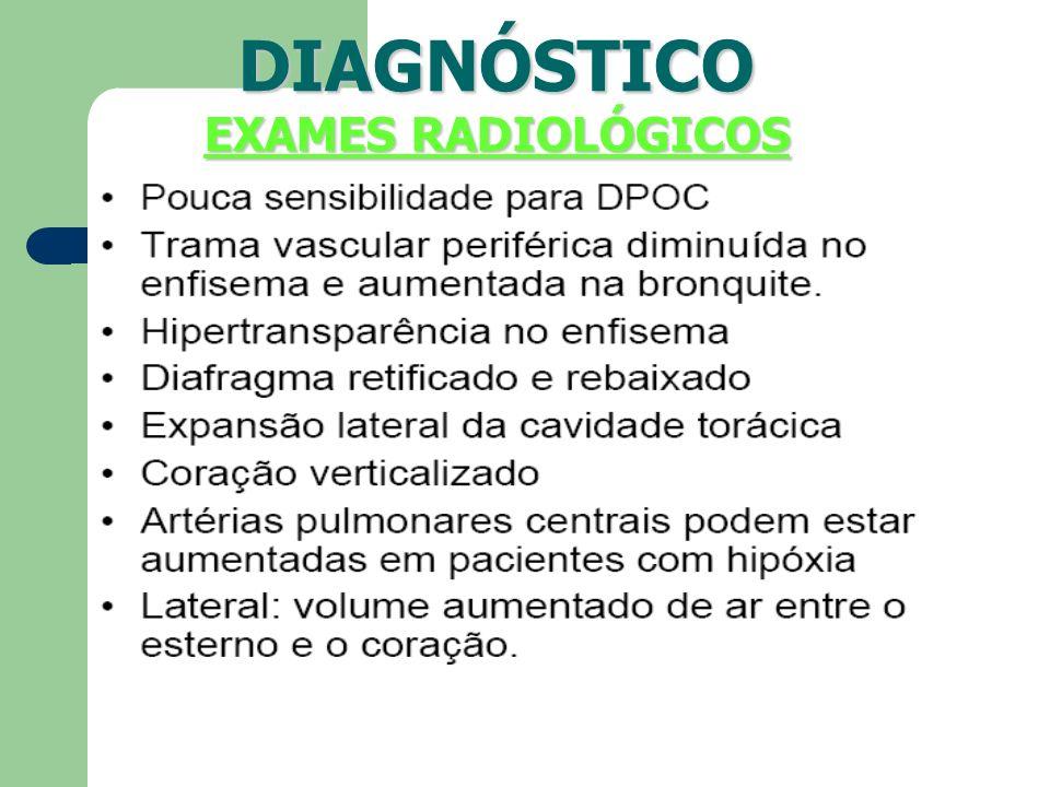 DIAGNÓSTICO EXAMES RADIOLÓGICOS
