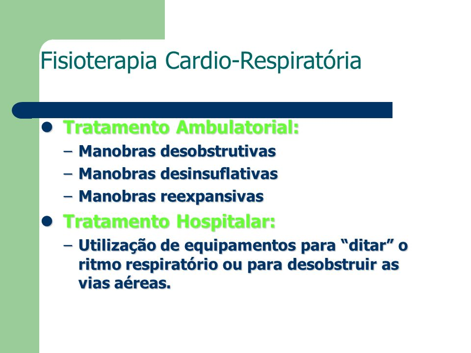 Fisioterapia Cardio-Respiratória