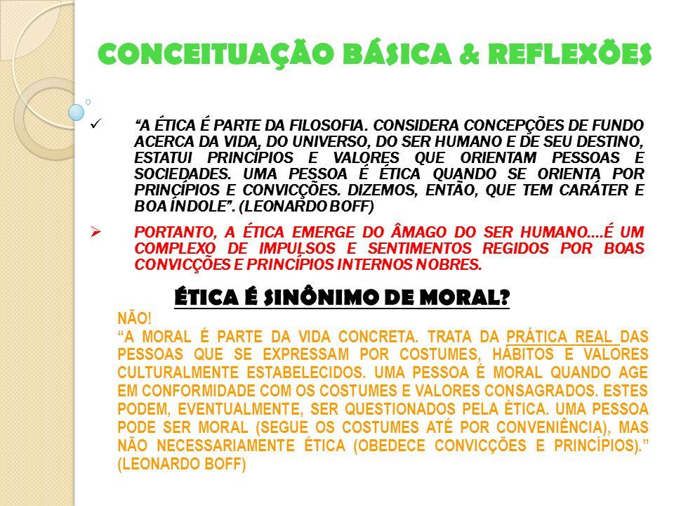 CONCEITUAÇÃO BÁSICA & REFLEXÕES