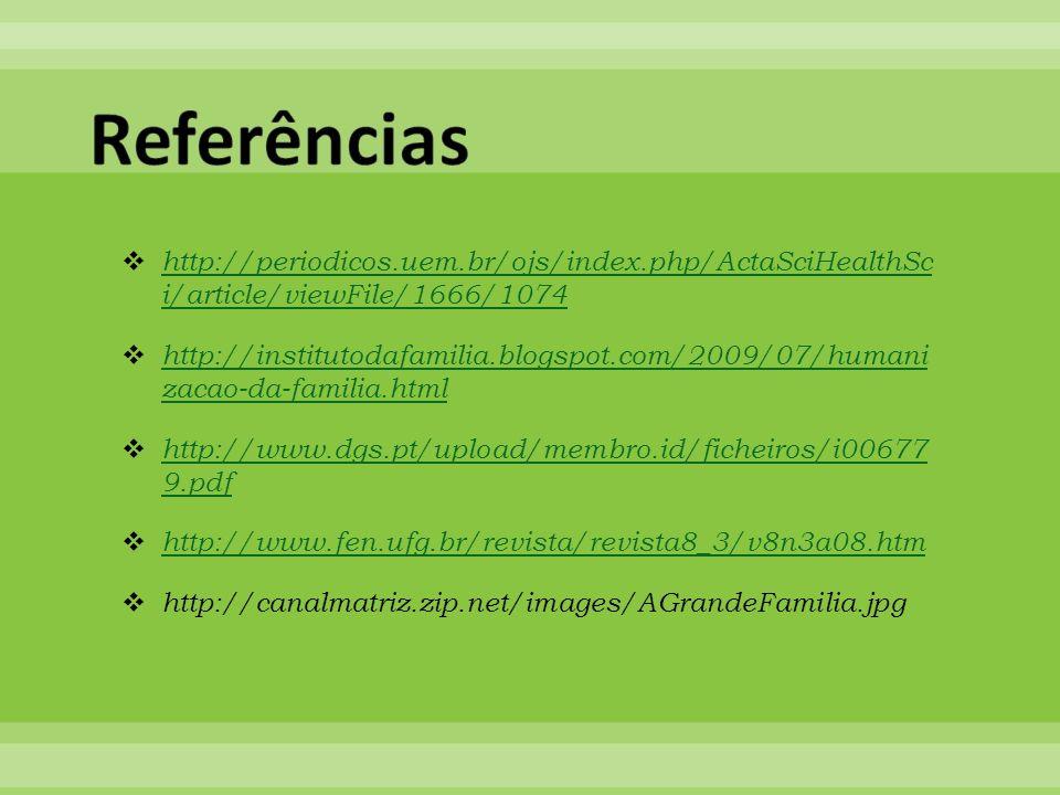 Referências http://periodicos.uem.br/ojs/index.php/ActaSciHealthSc i/article/viewFile/1666/1074.