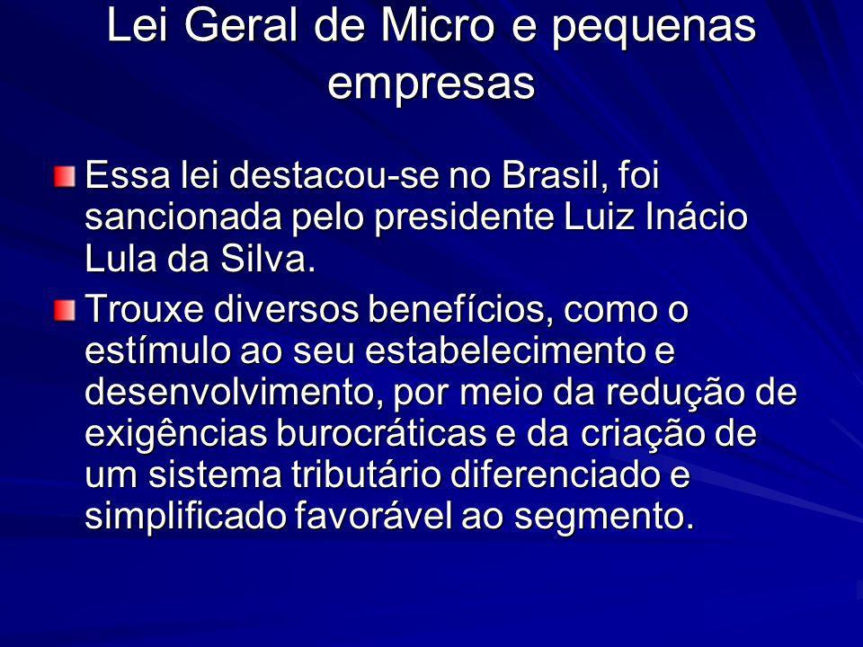 Lei Geral de Micro e pequenas empresas