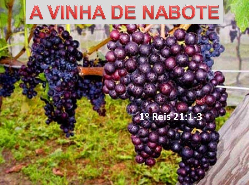 A VINHA DE NABOTE 1º Reis 21:1-3