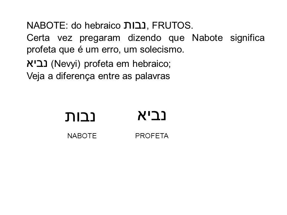 נביא נבות נביא (Nevyi) profeta em hebraico;