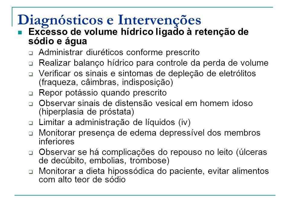 Diagnósticos e Intervenções