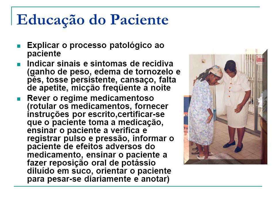 Educação do Paciente Explicar o processo patológico ao paciente