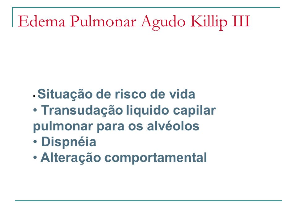 Edema Pulmonar Agudo Killip III