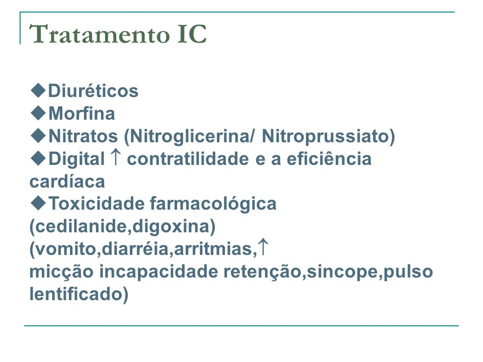 Tratamento IC Diuréticos Morfina