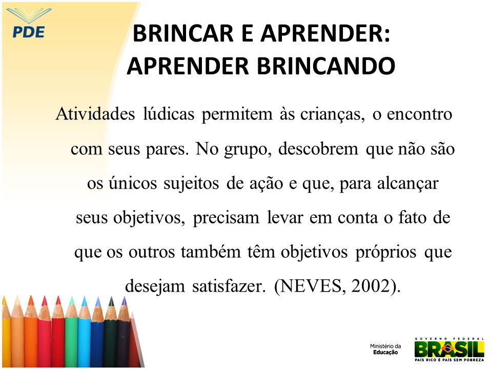 BRINCAR E APRENDER: APRENDER BRINCANDO