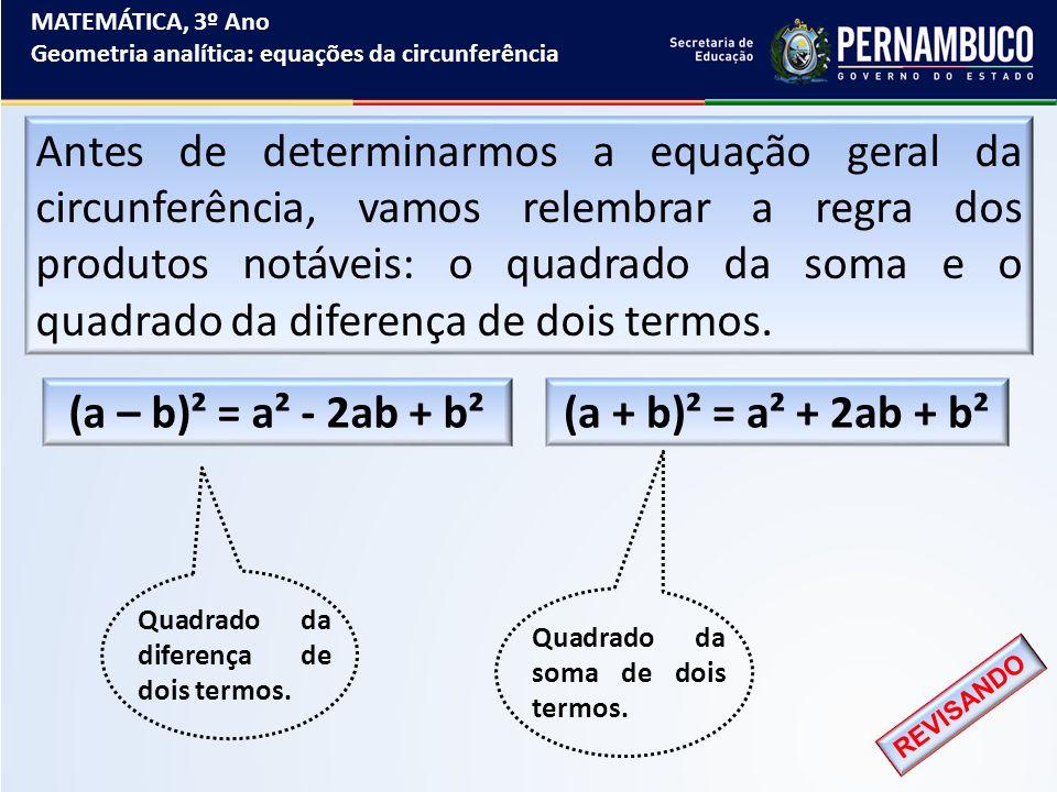 (a – b)² = a² - 2ab + b² (a + b)² = a² + 2ab + b²