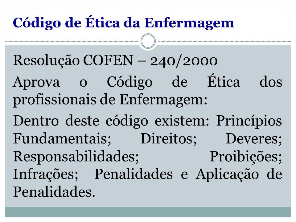 Código de Ética da Enfermagem